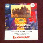 Click here to enlarge image and see more about item Bud1991: 1991 Bud Clydesdale Calendar