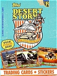 Click here to enlarge image and see more about item desstorm1: TOPPS DESERT STORM TRADING CARDS SERIES 1