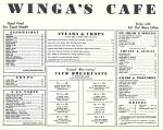 Click to view larger image of Winga's Caf�, Washington IA, 1950s Postcard Menu  (Image2)
