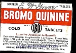 Click here to enlarge image and see more about item p1007: BROMO-QUININE Cold Tablets