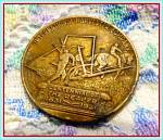 Click here to enlarge image and see more about item SM220: International Harvester Reaper Centennial Token, 1931