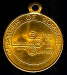 Click here to enlarge image and see more about item SM239: 50th Anniv. Key Chain/Fob: Marshalltown IA Chamber of Commerce