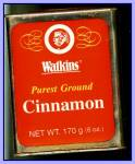 Click here to enlarge image and see more about item Tn113: Large Watkins Cinnamon Tin