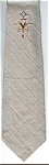 Click here to enlarge image and see more about item T122: Classy Gray 50s Vintage Necktie
