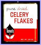 Click here to enlarge image and see more about item Tn119: Tone's Celery Flakes, All-Metal Tin