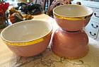 Hall China Retro Pink Bowls