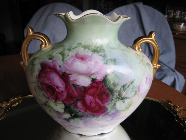 Austrian Antique Rose Vase Austrian Porcelain At More Than Mccoy