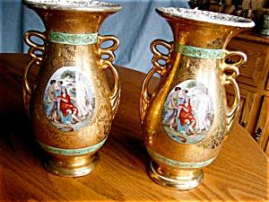 Abingdon Pottery Mantel Vases (Image1)