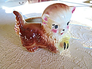 American Bisque Cat Planter