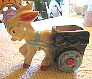 American Bisque Donkey Planter
