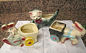 Animal Pottery Vintage Novelty Planters