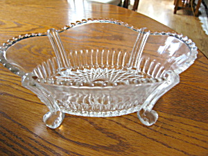 Antique Footed Glass Bowl