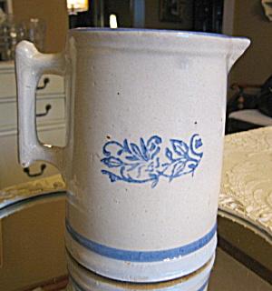 Antique Blue White Table Pitcher (Image1)