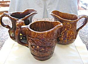 Antique Rockingham Pottery Pitchers (Image1)