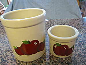 Ransbottom Stoneware Apple Crocks