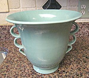 Large Vintage Aqua Large Vase (Image1)
