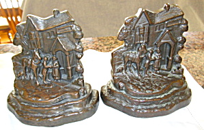 Antique Armor Bronze Bookends