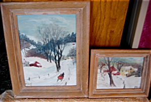 Winter In Vermont Landscape Paintings - Listed Artist
