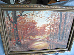 Artist Signed Vintage Oil Painting