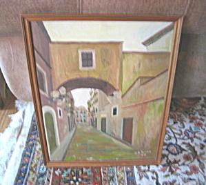 Oil Painting M. Palomba Vintage (Image1)