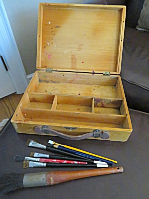 Vintage Paint Box & Brushes