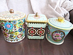 Tin Cannister Vintage Assortment