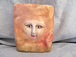 Signed Art Pottery Face