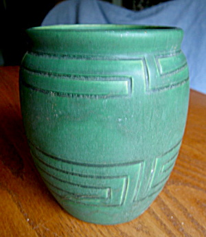 Arts & Crafts Matte Green Vase (Image1)
