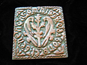 Moravian Art Pottery Tile