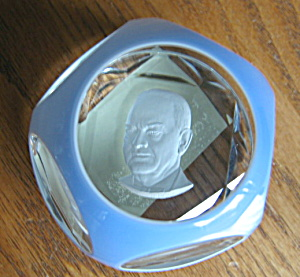 Baccarat Sulfide President Paperweight (Image1)