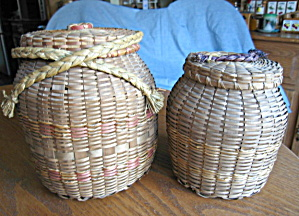Vintage Native American Fibre Baskets