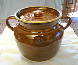 Stoneware Bean Pot Vintage Stoneware #3 (Image1)