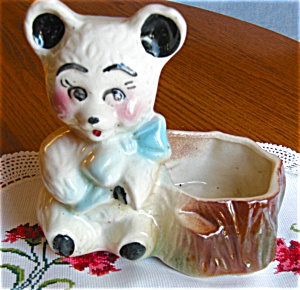 American Bisque Bear Planter (Image1)