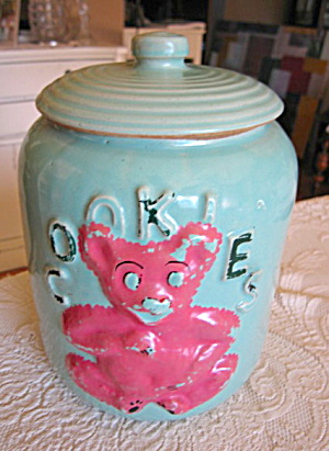 Teddy Bear Cookie Jar Vintage