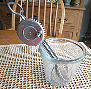 Antique Beater and Hazel Atlas Jar (Image1)