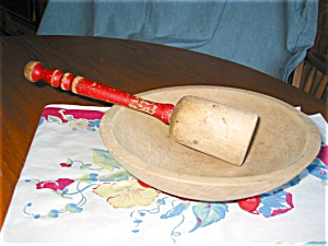 Wagner Wooden Bowl And Masher