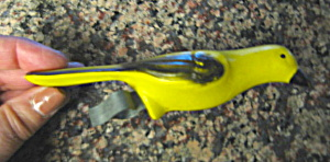 Vintage Bird Cage Ornament Canary