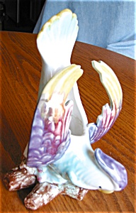 Vintage Morton Pottery Bird Wallpocket