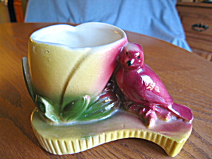 American Bisque Bird Planter