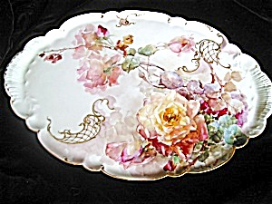 Franz Bischoff Porcelain Roses Tray