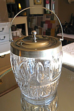 Antique Epns Biscuit Jar