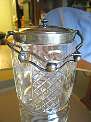 Cut Glass Biscuit Jar Antique (Image1)