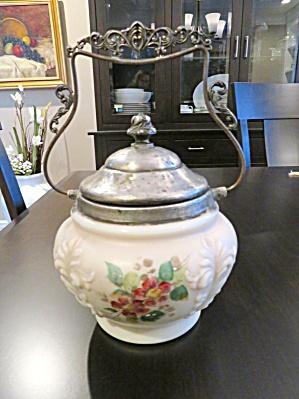 Victorian Satin Glass Biscuit Jar (Image1)