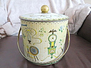 Large Vintage Biscuit Tin