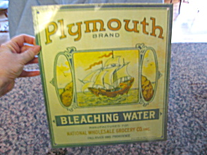 Plymouth Brand Bleaching Water Sign (Image1)
