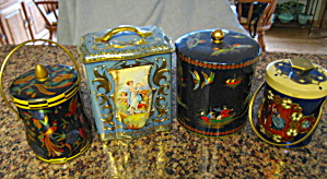 Vintage Blue Toffee Tins