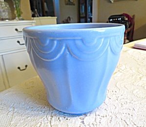 Satin Matte Blue Usa Vase