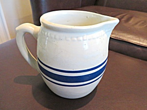 Blue & White Vintage Stoneware Pitcher