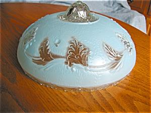 Vintage Blue Glass Ceiling Shade (Image1)