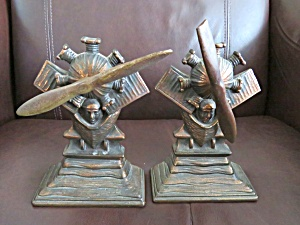 Lindburg Propeller Antique Bookends